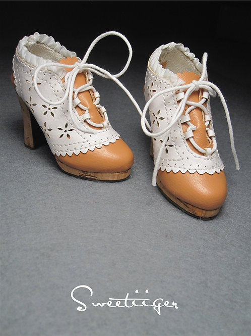 1/3 BJD shoes Flowers carved oxford shoes