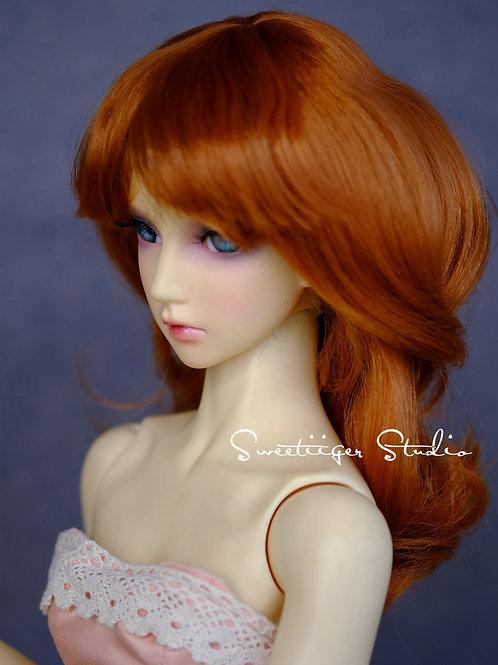 "Manmade-Mohair 8-9"" BJD Doll wig"