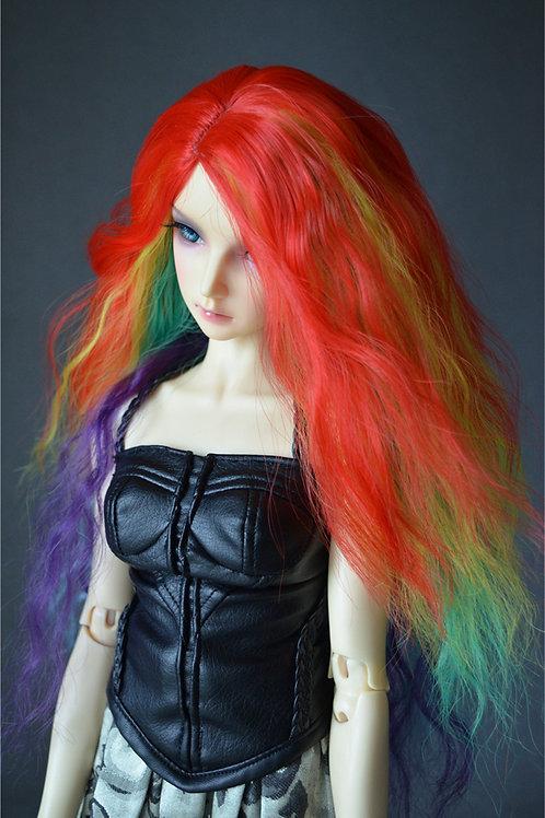 """Fantasy Line 6-7"""" 7-8"""" 8-9"""" Doll wig [Rainbow wave]"""