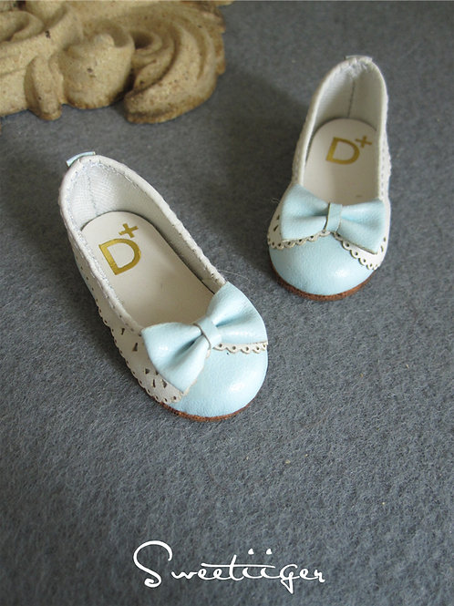1/6 BJD shoes carved lace baby blue lolita shoes