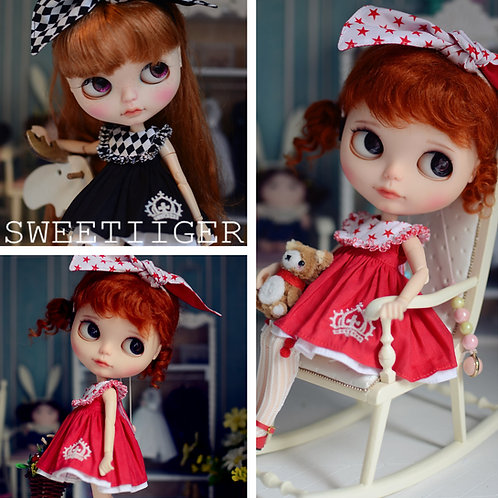 blythe pullip azone cherry Berry custom dress outfit clothes