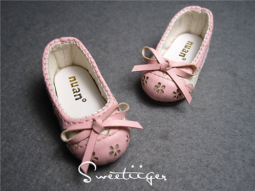 1/6 BJD shoes carved lace baby pink lolita shoes