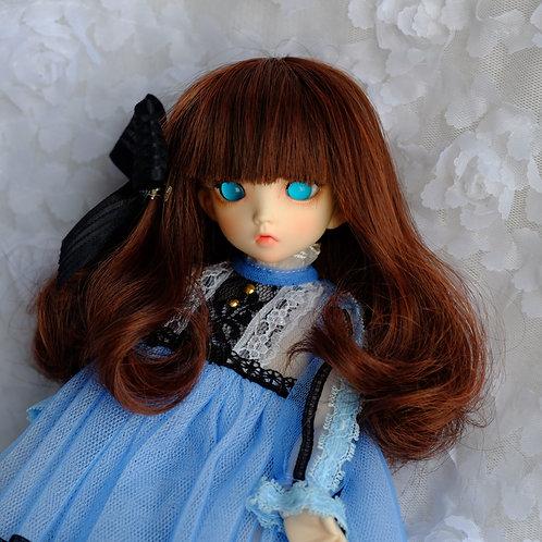"""Manmade-Mohair 6-7"""" 7-8"""" 8-9"""" Doll wig [mix bangs]"""