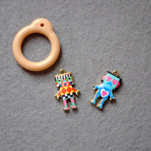 Blythe pull ring noble metal colorful robot 2 sets