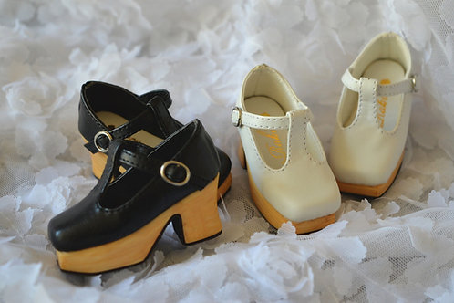 1/4 BJD MSD shoes elegant Square Toe Platform shoe