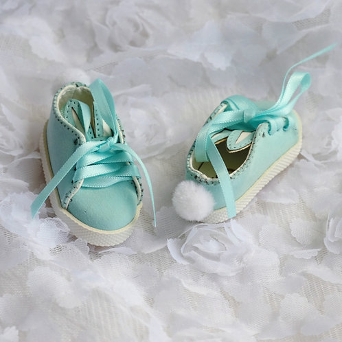 1/6 BJD shoes baby blue snow balls bunny tails