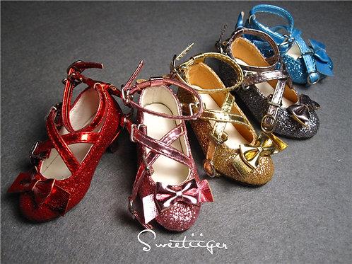 1/4 BJD shoes sparkle metal Lolita style