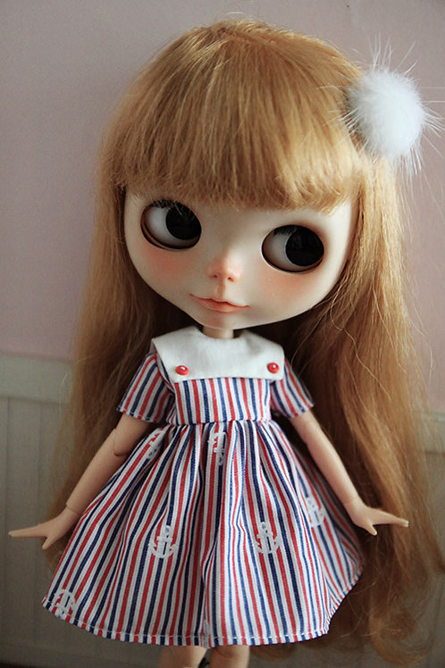 Blythe/Pullip outfit summer sailor cute dress