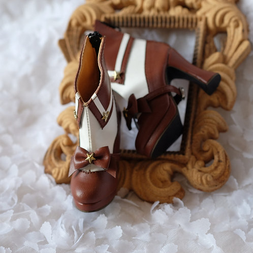 1/3 BJD shoes chocolate Sailor Moon bows boots