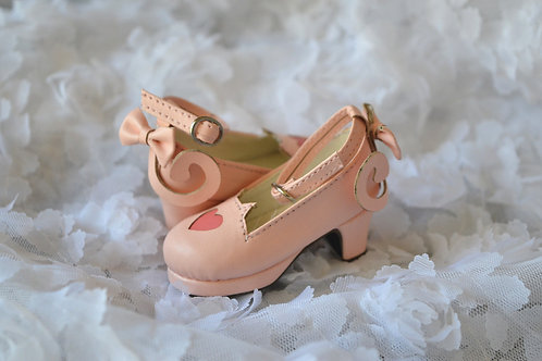 1/4 BJD shoes MSD sweet pink cat tails