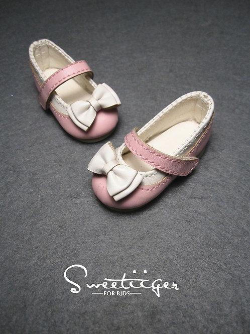 1/6 BJD shoes adorable double bows flat shoes