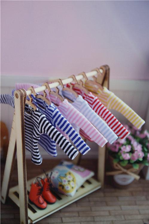 Blythe/Pullip stripe long sleeve T-shirt 6 colors