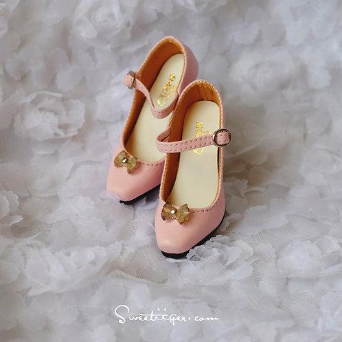 1/3 BJD shoes elegant pink queen heels