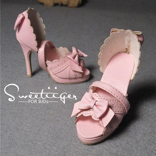 1/3 BJD shoes lolita sweet bows