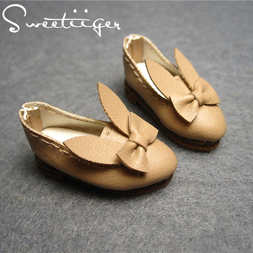 """12""""Blythe/Pullip/mmk/JerryB shoes latte bunny"""