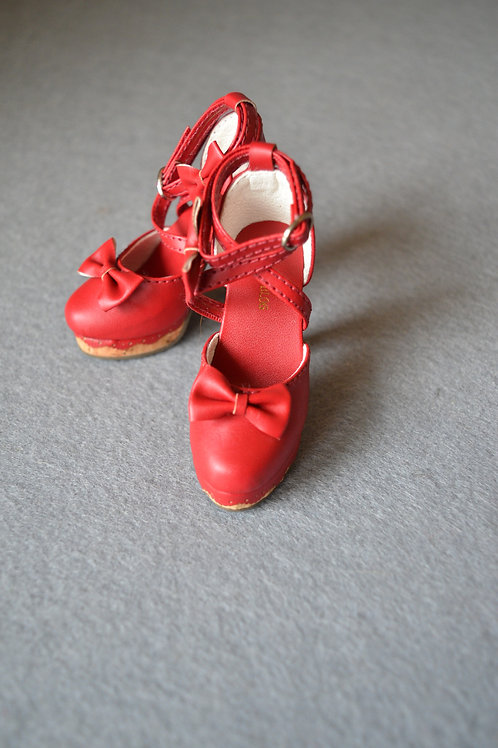1/3 BJD shoes elegant wine Lolita cross heels
