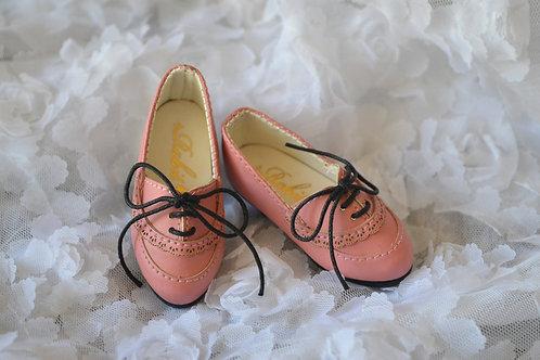 1/4 BJD elegant peach pink leather oxford Lolita