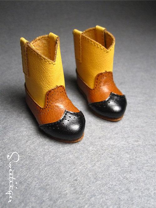 1/6 BJD cute triple color cowboy boots