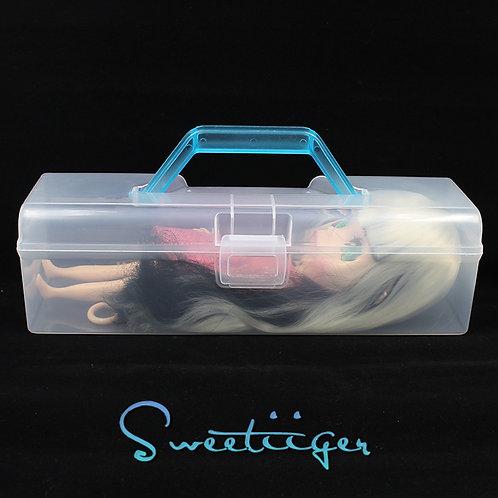 Blythe/pullip/barbie/ooak Transparent carry box