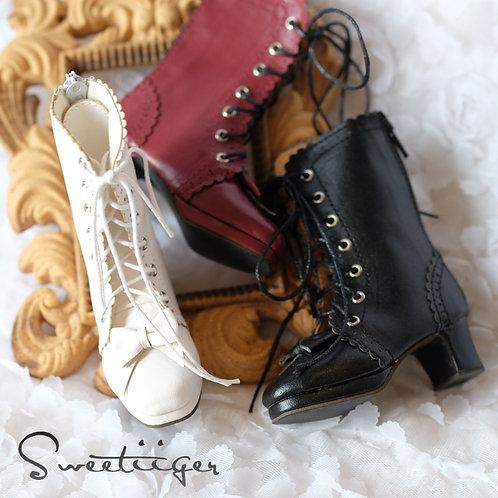 1/3 BJD shoes lolita bows boots