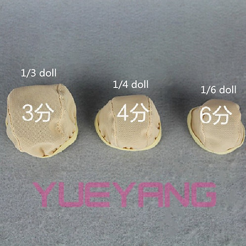 "6-7"" 7-8"" 8-9"" 9-10"" bjd doll wig Stretch cap"
