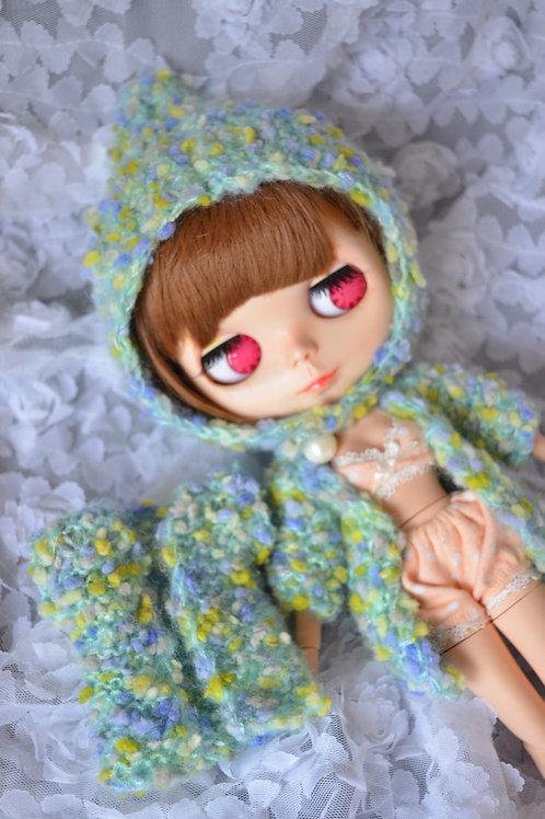Blythe/Pullip Hand-woven cute pots sweater/hat