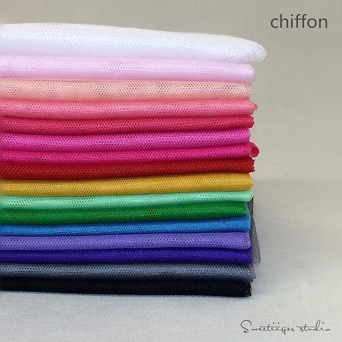 50 *150 cm basic Chiffon doll clothes fabric 15 colors