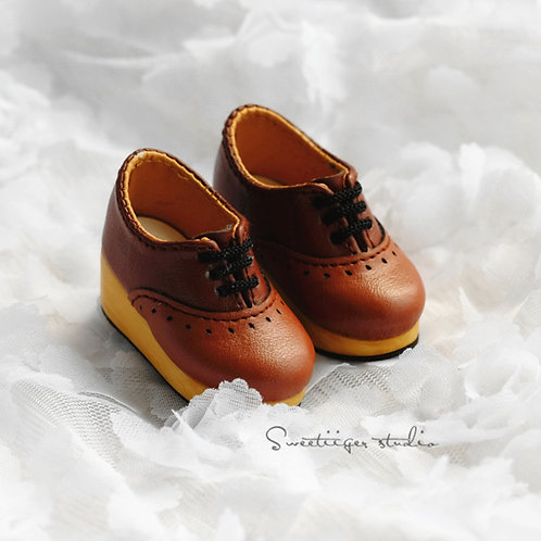 1/6 BJD shoes thick Oxford block shoes