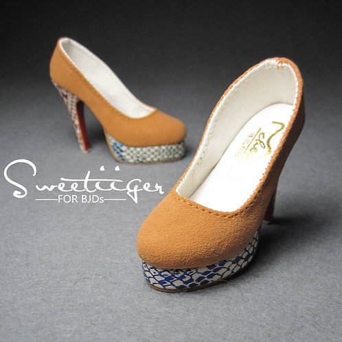 1/3 BJD shoes fashion matte high heels Ginger