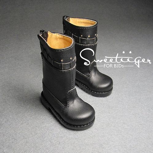 1/4 BJD shoes black strip boots