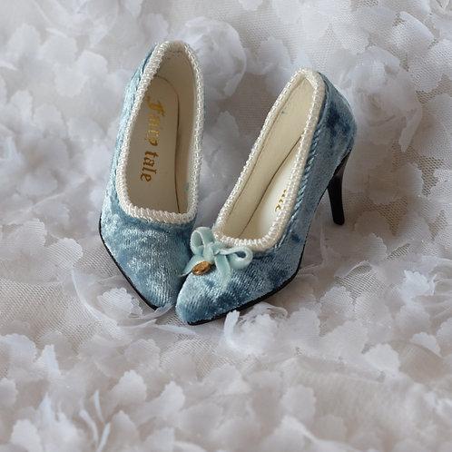 1/3 BJD shoes velvet golden coin high heels