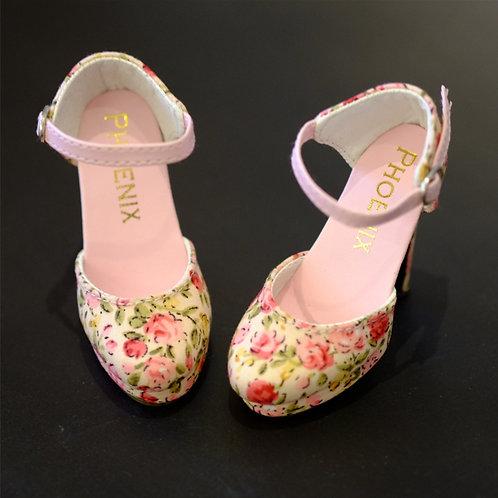 1/3 BJD shoes summer flowers high-heeled sandals