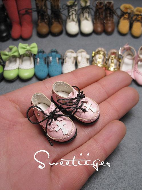 "12""Blythe/Pullip/mmk/JerryB shoes pink Rivet Cross"