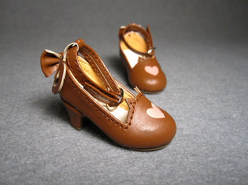 1/6 BJD shoes chocolate cat tail heels shoes