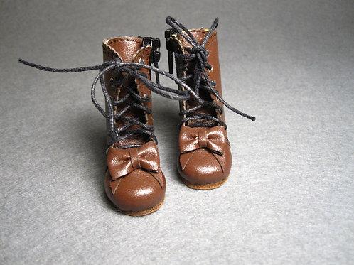 1/6 BJD shoes adorable brown lolita bows boots