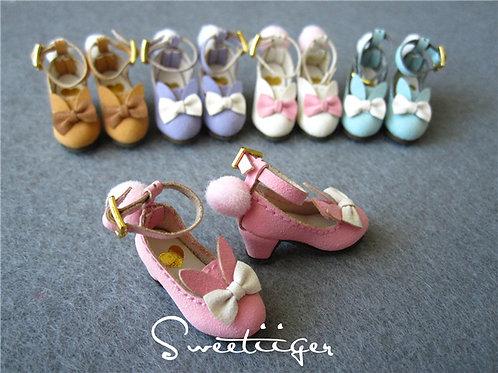 Blythe/Pullip/mmk/JerryB shoes matte bunny heels