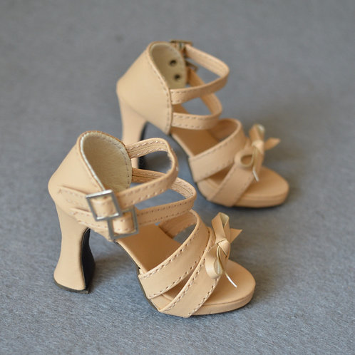 1/3 BJD shoes nude color thick with sandals