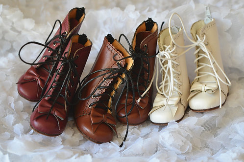 1/4 BJD MSD shoes carved bow boots