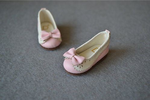 1/6 BJD shoes carved lace baby pink lolita flat