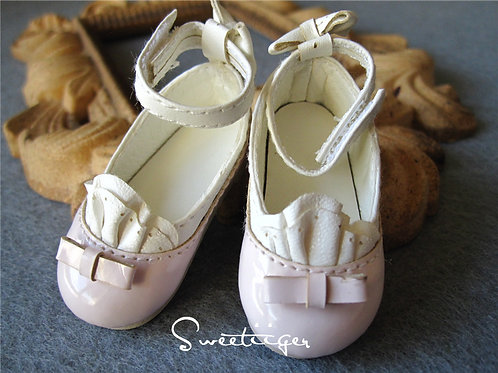 1/6 BJD Patent leather lace flat shoes