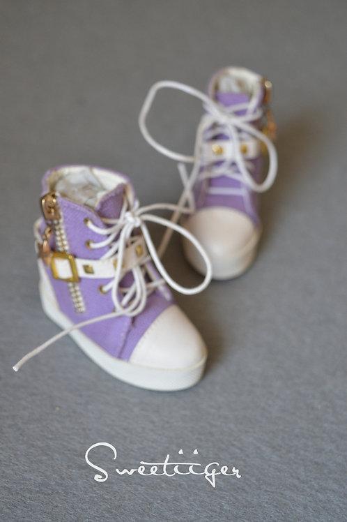 1/3 BJD shoes fashion jeans wedges purple