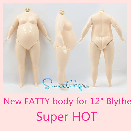 """Special NEW Fat body for 12"""" Blythe/Pullip"""
