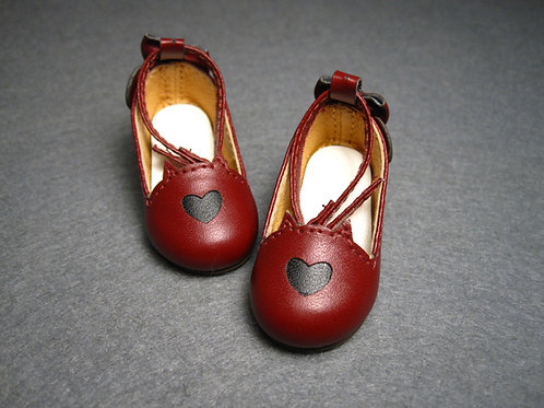 1/6 BJD shoes wine cat tail heels shoes