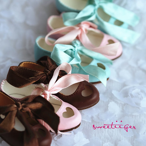1/4 BJD MSD shoes carved sweet heart 3 colors