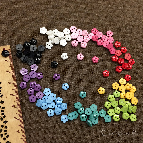 Tiny button 10 colors special doll clothes 10 pic. flower
