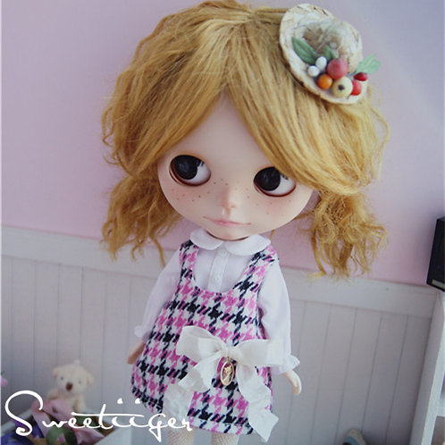 Blythe/Pullip sweet Houndstooth dress outfit