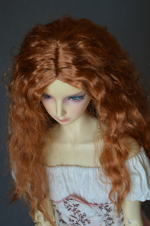 """Manmade-Mohair 8-9"""" Doll wig"""
