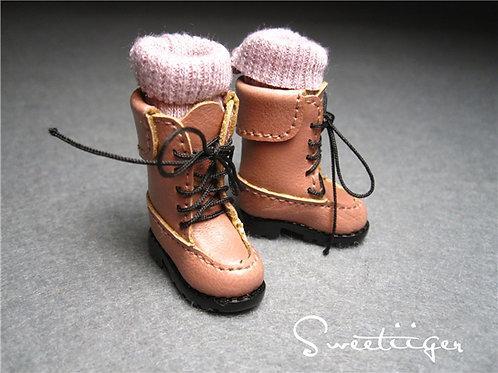 Blythe/Pullip/mmk/JerryB shoes 2 ways knit boots