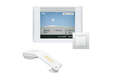 WS1000 color Weiß mit Innensensor WGTH-UP und Wetterstation P04i Gps