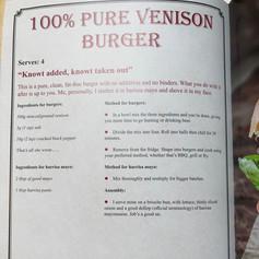 Venison Mince- 100% Venison Burger, Scott Rea Project,